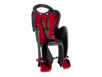 Сиденье задн. Bellelli Mr Fox Relax B-fix до 22кг, серое с красной подкладкой