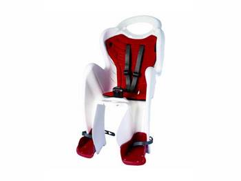 Сиденье задн. Bellelli Mr Fox Standart B-fix до 22кг, белое с красной подкладкой