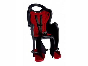 Сиденье задн. Bellelli Mr Fox Сlamp (на багажник) до 22кг, чёрное с красной подкладкой