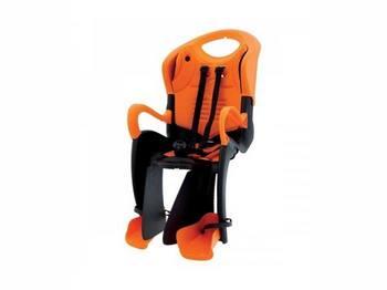 Сиденье задн. Bellelli Tiger Сlamp (на багажник) черно-оранжевое с оранжевой подкладкой