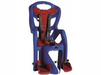 Сиденье задн. Bellelli Pepe Standart Multifix до 22кг, синее с красной подкладкой