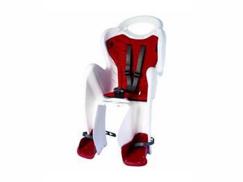 Сиденье задн. Bellelli Mr Fox Relax B-fix до 22кг, белое с красной подкладкой