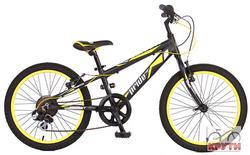 Велосипед 20 PRIDE JOHNNY 2014 черно-желтый матовый