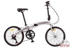 Велосипед 20'' PRIDE MINI 6sp серебристый глянцевый 2015