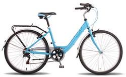 Велосипед 26 PRIDE COMFORT LADY 16 2014 сине-белый