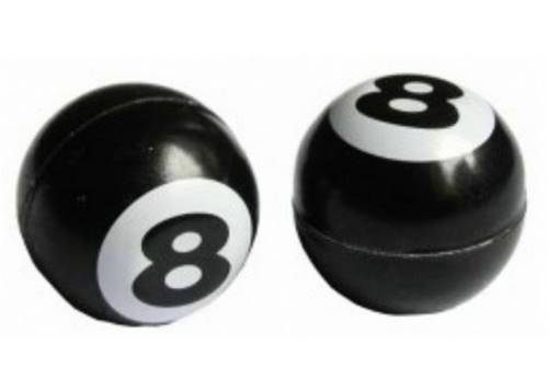 Колпачок для камеры TW V-09 черн. бильярдный шар, с цифрой 8 (в комплекте 4шт) Автомобильного стандарта