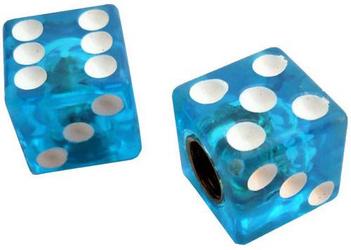 Колпачок для камеры TW V-11A Игральные кости из пластика, голубого цвета (в комплекте 4 шт) Автомобильного стандарта