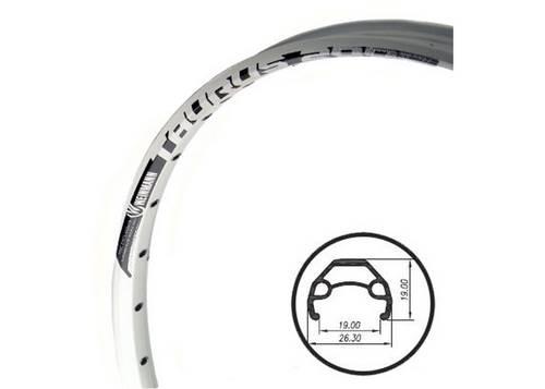 Обод 26 Weinmann Taurus 2000 disc, 32Н, анодир., пистон., под диск. тормоз, белый