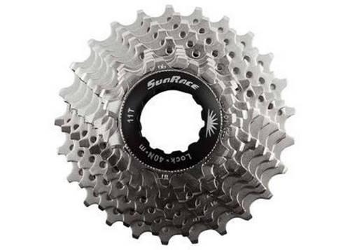 Кассета инд. 10-k 11-25T SUN RACE RS1 алюминевый паук, Metallic Silver