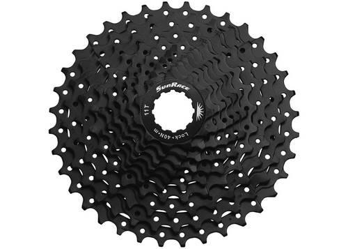 Кассета инд. 10-k 11-36T SUN RACE MS1 MTB, стальной паук, ED Black