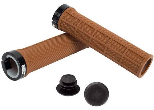 Грипсы Green Cycle GGR-410 130mm коричневые с одним черным замком