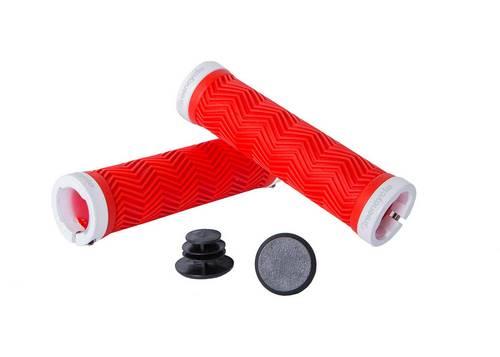 Грипсы Green Cycle GGR-420 130mm вспененная резина, с двумя замками красный/белый