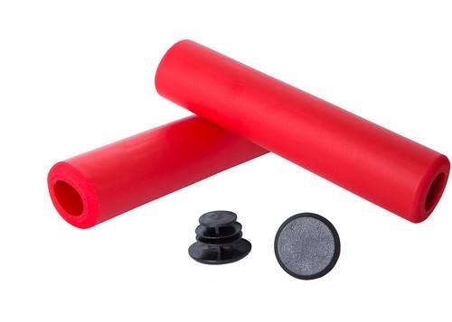 Грипсы Green Cycle GGR-701 130mm вспененный силикон, красные