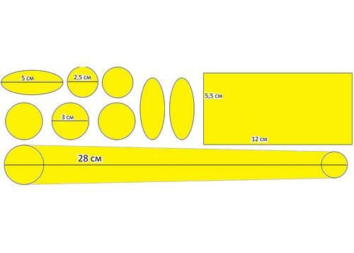 Набор защиты рамы Green Cycle CPG-501 самоклеющийся 5 мм толщина 10 элементов