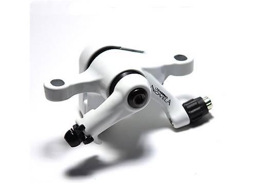 Тормоз дисковый  механ. Tektro Novela в комплекте с ротором 160мм+калипер+болты+ адаптер IS пер.160мм или задн. 140мм, белый