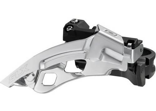 Переключатель пер. SHIMANO FD-M670-A SLX 3х10, нижний хомут, универсальная тяга, адаптер под 31.8mm, под 40/42 зуба