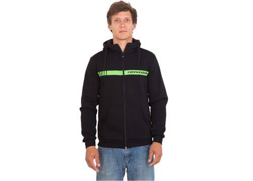Кофта мужская Cannondale черная с зеленой полосой размер M