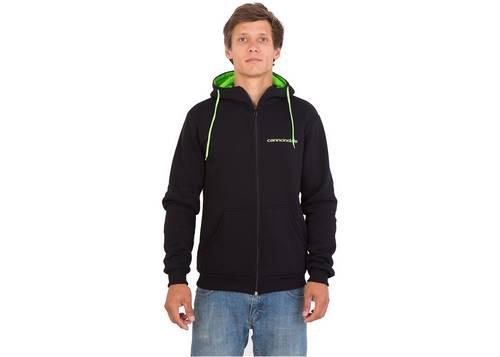 Кофта мужская Cannondale черная с зеленым капюшоном размер L