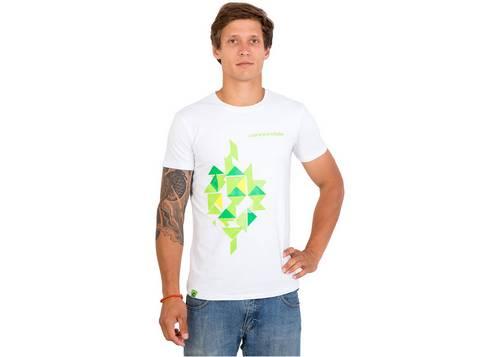 Футболка мужская Cannondale белая с зеленым орнаментом размер L