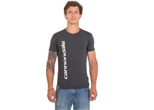 Футболка мужская Cannondale серая с белым логотипом размер S