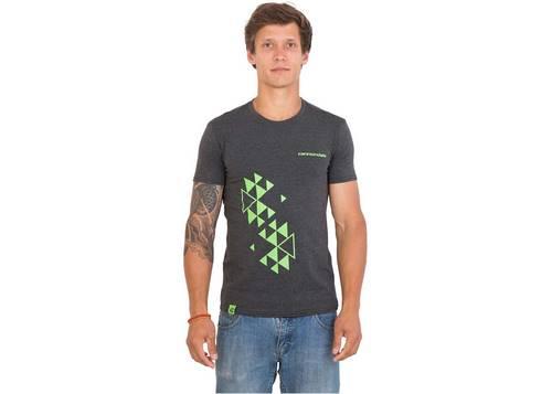 Футболка мужская Cannondale серая с зеленым орнаментом размер S