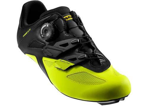 Обувь Mavic COSMIC ELITE, размер UK 9 (43 1/3, 274мм) Black/Black/Safety черно-желтая