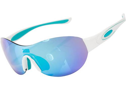 Очки Green Cycle GC-GL5302 с одной поляризованной REVO линзой+футляр+чехол, бело-голубые женские