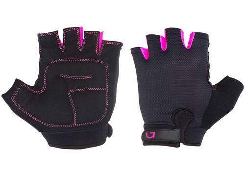 Перчатки Green Cycle Frida Feminine без пальцев S черно-розовые
