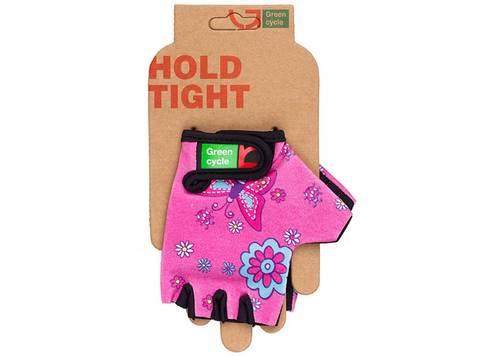 Перчатки Green Cycle NC-2338-2014 Kids без пальцев M розовые