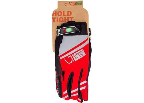 Перчатки Green Cycle NC-2378-2014 MTB с закрытыми пальцами L красно-серые