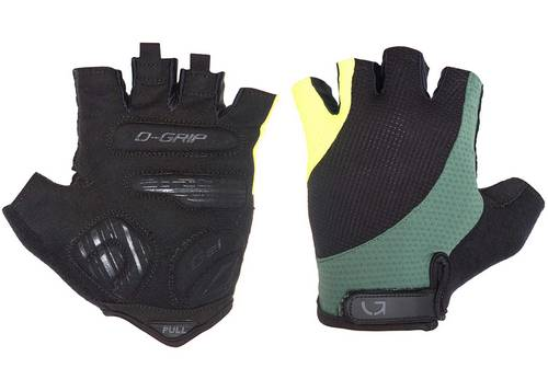 Перчатки Green Cycle Pillow без пальцев M черный зелено-желтый