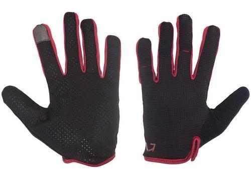 Перчатки Green Cycle Punch с закрытыми пальцами S черно-красные