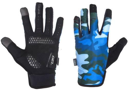 Перчатки Green Cycle Rocker с закрытыми пальцами M синий камуфляж