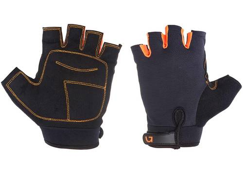 Перчатки Green Cycle SIMPLA без пальцев L черно-оранжевые