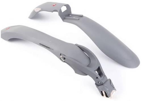Комплект крыльев 24-29 SIMPLA Hammer 2 SDE, SPEEDstrap быстросъемное крепление, серые с белыми вставками
