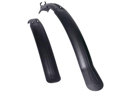 Комплект крыльев 26-28 SIMPLA Next SDS, короткая скоба заднего крепления, черные