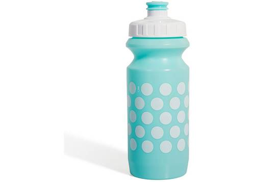 Фляга 0,6 Green Cycle GBT-512M Polka Dot с Big Flow valve, LDPE light blue nipple/white matt cap/ light blue matt bottle