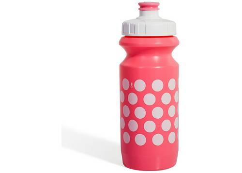 Фляга 0,6 Green Cycle GBT-512M Polka Dot с Big Flow valve, LDPE light pink nipple/ white matt cap/light pink matt bottle