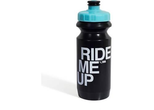 Фляга 0,6 Green Cycle GBT-512M Ride Me Up с Big Flow valve, LDPE black nipple/ light blue matt cap/ black bottle