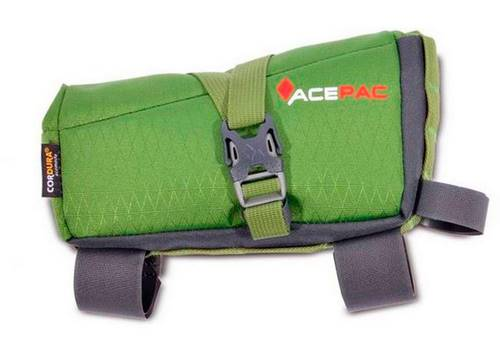 Сумка на раму Acepac ROLL FUEL BAG M, зелёная