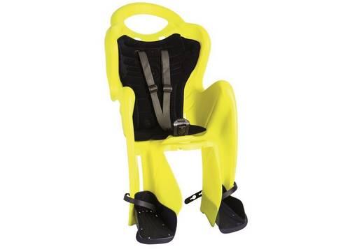 Сиденье задн. Bellelli Mr Fox Relax B-fix до 22кг, неоново-жёлтое с темно-синей подкладкой (Hi Vision)