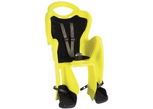 Сиденье задн. Bellelli Mr Fox Сlamp (на багажник) до 22кг, неоново-жёлтое с чёрной подкладкой (Hi Vision)