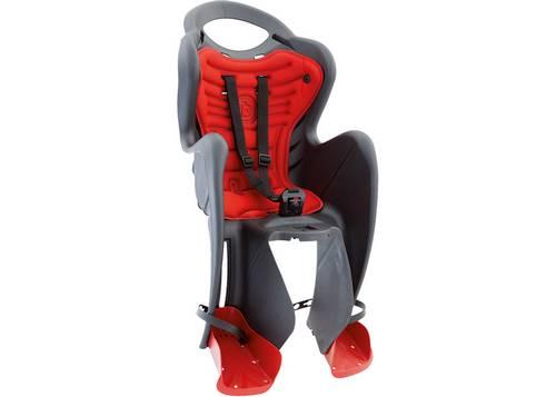 Сиденье задн. Bellelli Mr Fox Сlamp (на багажник) до 22кг, серое с красной подкладкой