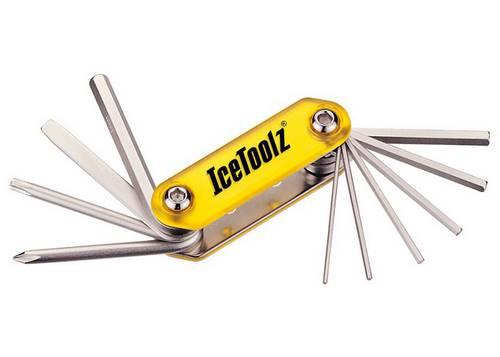Ключ ICE TOOLZ 94A5 складной 10 инструментов Compact-10