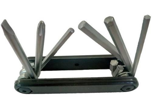Компактный ключ Green Cycle GCM-061 складной 6 инструментов, черный
