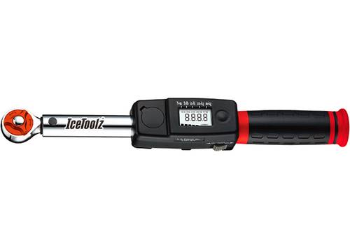 Ключ ICE TOOLZ E218 динамометрический 5~25NM, цифровой с левой и правой резьбой