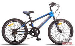 Велосипед 20 PRIDE JACK 6 2014 черно-синий матовый