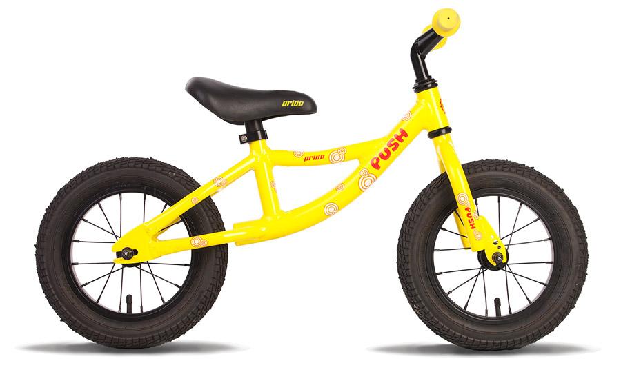 Велосипед (беговел) 12 PRIDE PUSH 2014 желто-красный