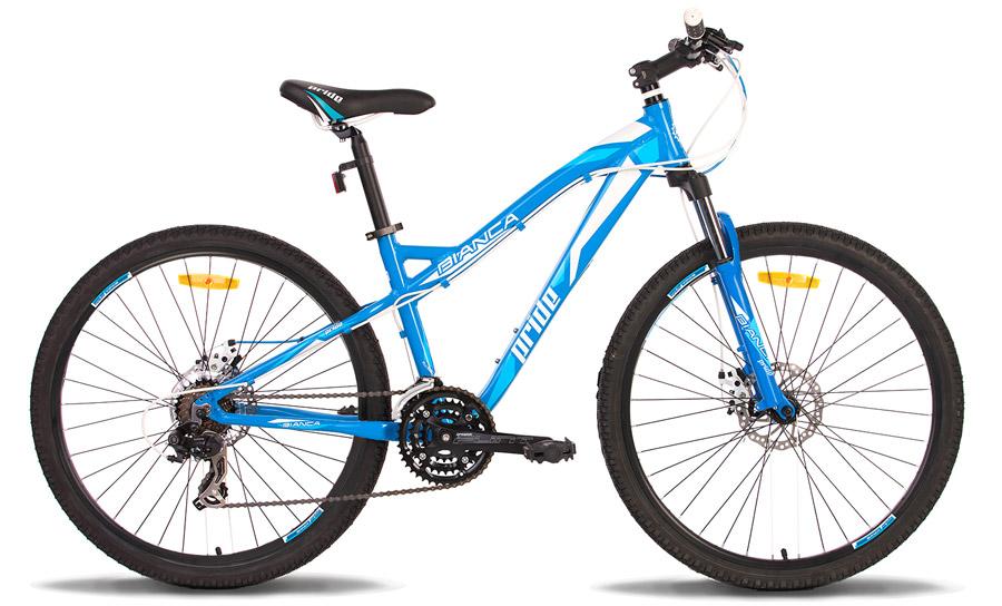 Велосипед 26 PRIDE BIANCA disc 2014 сине-белый
